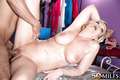 Over 50 Blonde Milf Lena Lewis Taking Cumshot On Face During Hardcore Sex