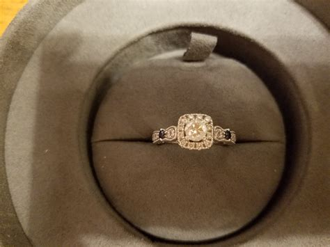 size 7 14k white gold diamond and sapphire vera wang love collection engagement ring i do now