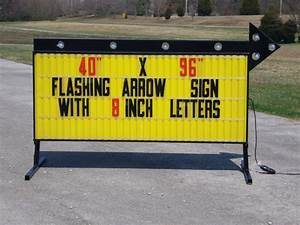 Model a 74096t outdoor sign outdoorletterscom for Flashing arrow sign letters