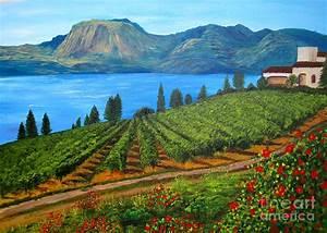 Okanagan Vineyard Painting by Alicia Fowler