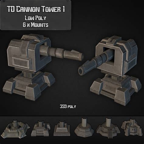 model docean td cannon tower   dondrupcom