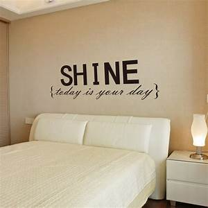 Quote wall stickers for bedrooms : Wall decor decal stickers quotes shine letters