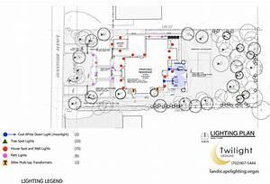 Las vegas landscape design planning for led lighting