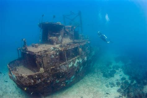 Titanic Photos Before Sinking by Swim Through History At Israel S Best Shipwreck Dive Sites