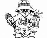 Graffiti Coloring Pages Adults Teens Artist sketch template