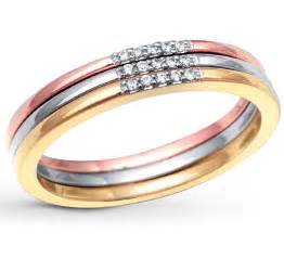3 wedding ring 3 tri color white and yellow wedding ring band for jeenjewels