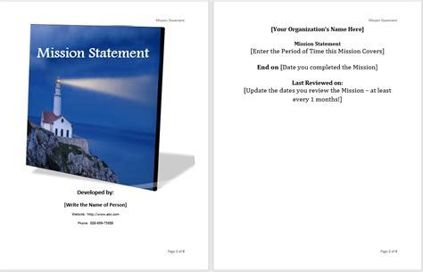 Mission Statement Template Mission Statement Template Microsoft Word Templates
