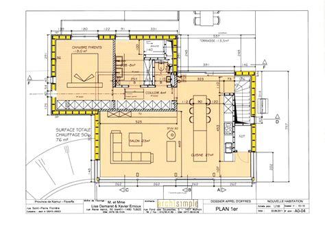 Plan Maison 2 Chambres - cuisine plan maison etage chambres plan maison 4 chambres
