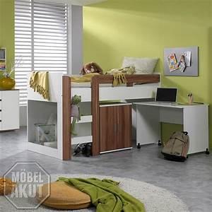 Kinderzimmer Mit Schreibtisch : hochbett mit schreibtisch pedro 5 kinderzimmer in weiss ~ Michelbontemps.com Haus und Dekorationen