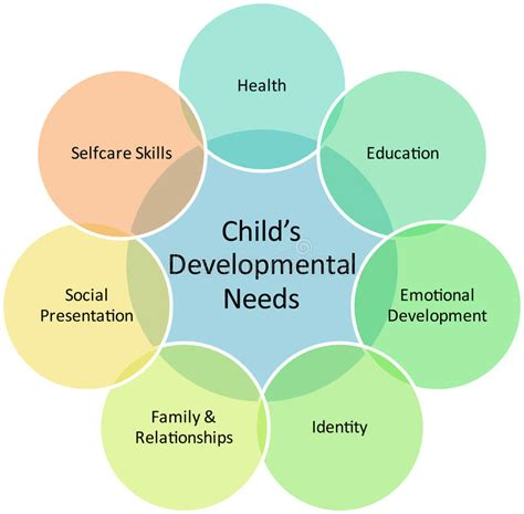 child development business diagram stock illustration