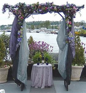 Purple wedding pictures for Decorating a trellis for a wedding