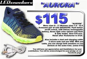 LED Sneakers - Official shoe of The Glow Run 5k -These ...