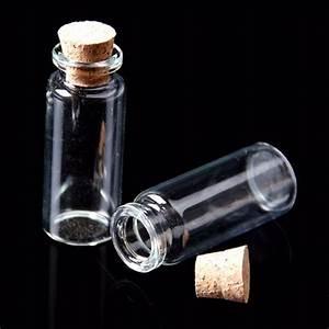 Glasflaschen Mit Korken : 10x leere mini glasflaschen mit korken glas beh lter transparent 0 5 12ml ebay ~ Orissabook.com Haus und Dekorationen