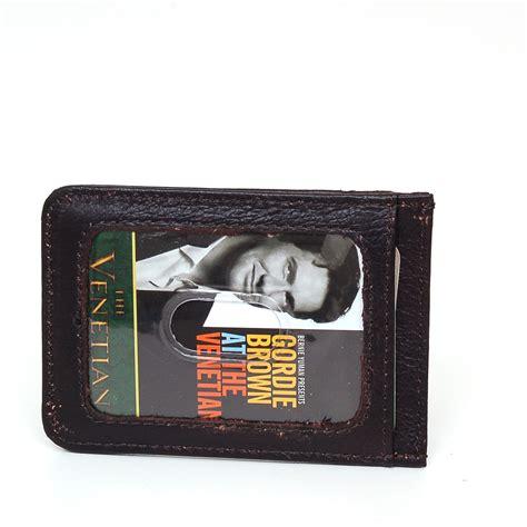 General interest product description genuine leather front pocket money clip dimensions (lxw) : Mens Leather Money Clip Slim Front Pocket Wallet Magnetic ID Credit Card Holder | eBay