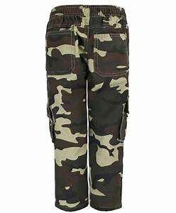 KIDS CAMOUFLAGE MULTIPOCKET TROUSERS BOYS ARMY PRINT PANTS ...