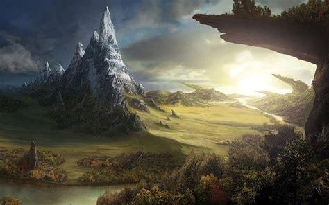 fantasy landscape wallpaper wallpapersafari