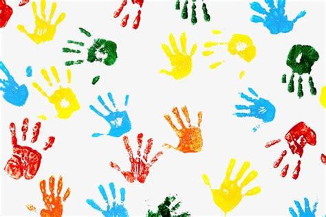Colorful Handprints, Colorful, Handprint, Shading Png