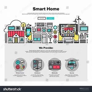 Smart Home Control : one page web design template thin stock vector 350726357 shutterstock ~ Watch28wear.com Haus und Dekorationen
