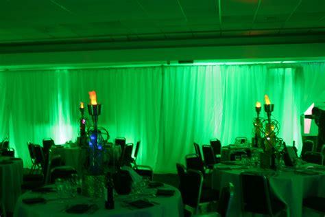 green mood lighting wedding dj
