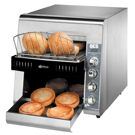 Bagel Toaster by Holman Qcs2 600h Conveyor Toaster With 3 Quot Opening For