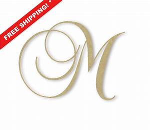 wooden monogram letter large or small unfinished With large monogram letters for wedding