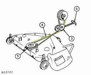 I Have A Deere 112 Electric Lift Tractor And I Cant Get The Main Drive Belt From Motor To The