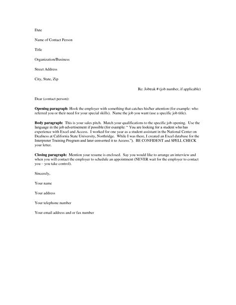 Cover Letter Templates For Resume by Cover Letter Resume Free Excel Templates