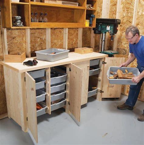 Wood Garage Storage Cabinet Plans