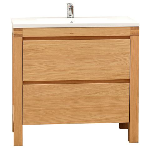 cooke lewis erwan natural oak vanity unit basin set