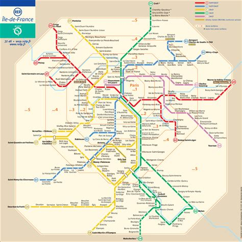 Carte Rer Parisien by Rer Map And Guide For Visitors