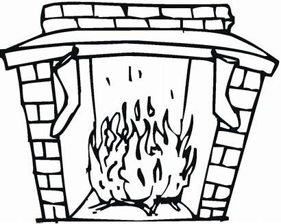 Coloring Fireplace Christmas Pages Printable Freecoloringpagefun Sheet