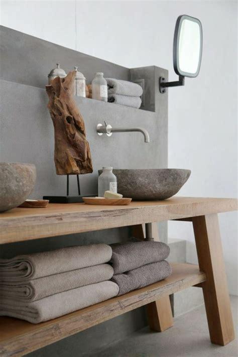 salle de bain en beton cire pour  amenagement tendance