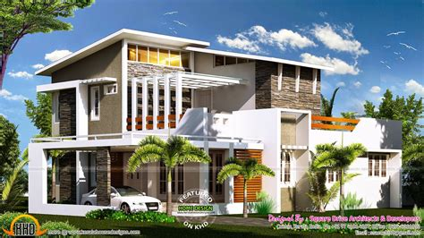 modern houses plans 2000 sq ft modern contemporary house plan kerala home