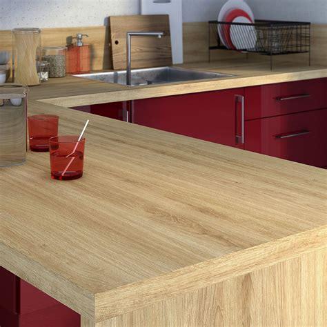 table de cuisine chez but plan de travail stratifié effet chêne naturel mat l 315 x