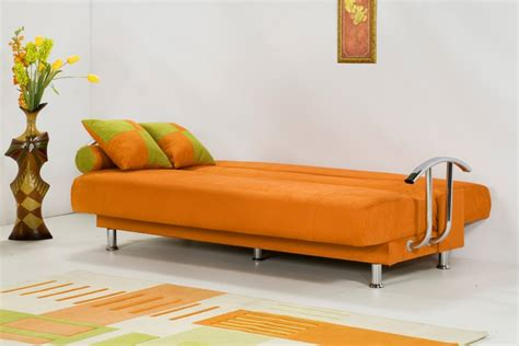orange leather sofa bed important factors on sofa bed review by lisa buschlen