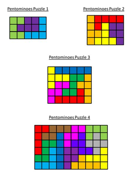maths pentominoes puzzles lesson by csroberts23