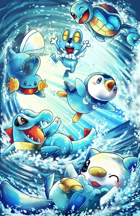 water starters pokemon anime water pokemon