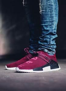 Pharrell x Adidas NMD Human Race Burgundy 2016 (by fil p) Sweetsoles sneakers Pinterest