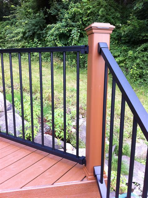 home elements  style deck railing cap ideas good dino