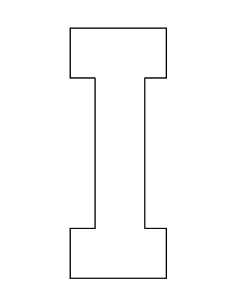 letter f template printable letter i template