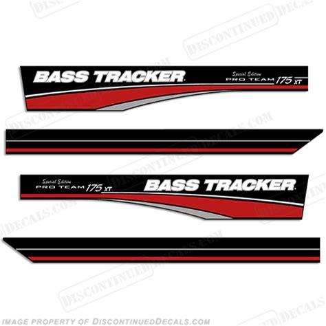 Bass Tracker Boat Specials by Bass Tracker Pro Team 175 Xt Decals Special Edition