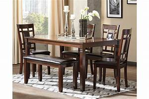 bennox dining room table and chairs with bench set of 6 With dining room furniture with bench