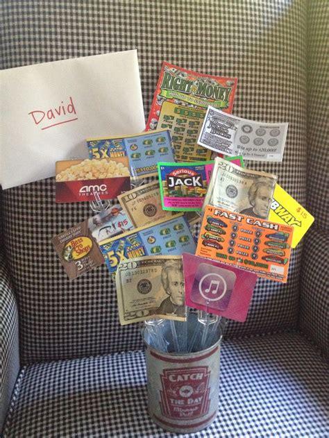 teen boys birthday gift idea gift cards lotto tickets