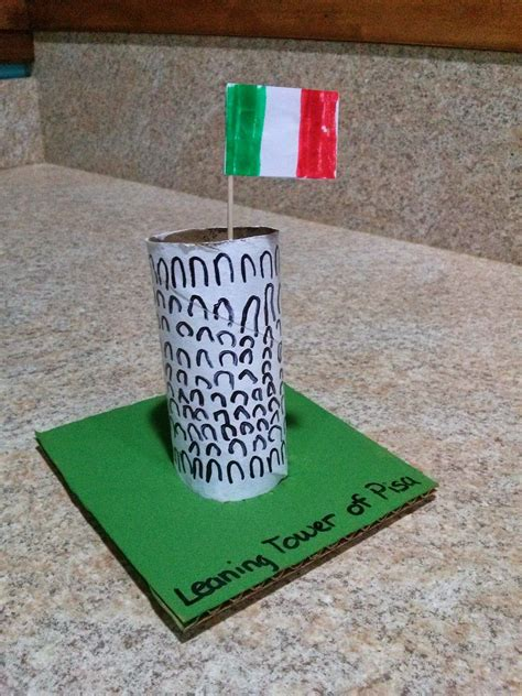 leaning tower of pisa craft italy craft 691 | fe460ca0491318c2dab17a05dc4102e8