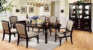 Harrington Elegant Dark Walnut Formal Dining Set With