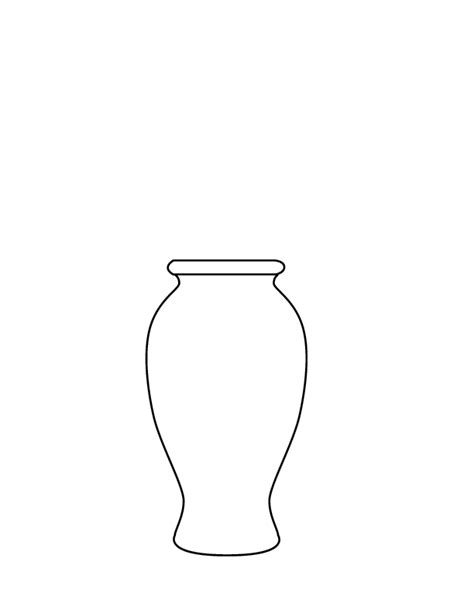 coloring pages  cartoon vase  flowers drawing