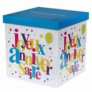 Deco Multicolore : urne tirelire joyeux anniversaire multicolore 1001 d co table ~ Nature-et-papiers.com Idées de Décoration