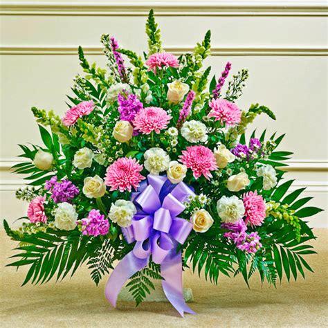 lavender white sympathy floor basket baskets