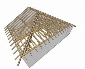 Calcul Surface Toiture 2 Pans : plan charpente 4 pans gratuit fabriquer une charpente ~ Premium-room.com Idées de Décoration