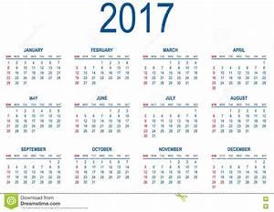 Calendario Para 2017 Ilustración del Vector - Imagen: 77801811